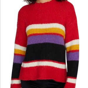 Sanctuary Striped Party Chunky Knit Soft Sweater